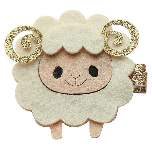 Glitter Lamb Clip WS