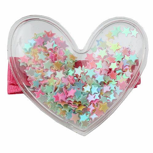 Confetti Heart Clip