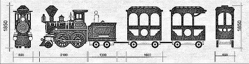 Аттракцион паровозик