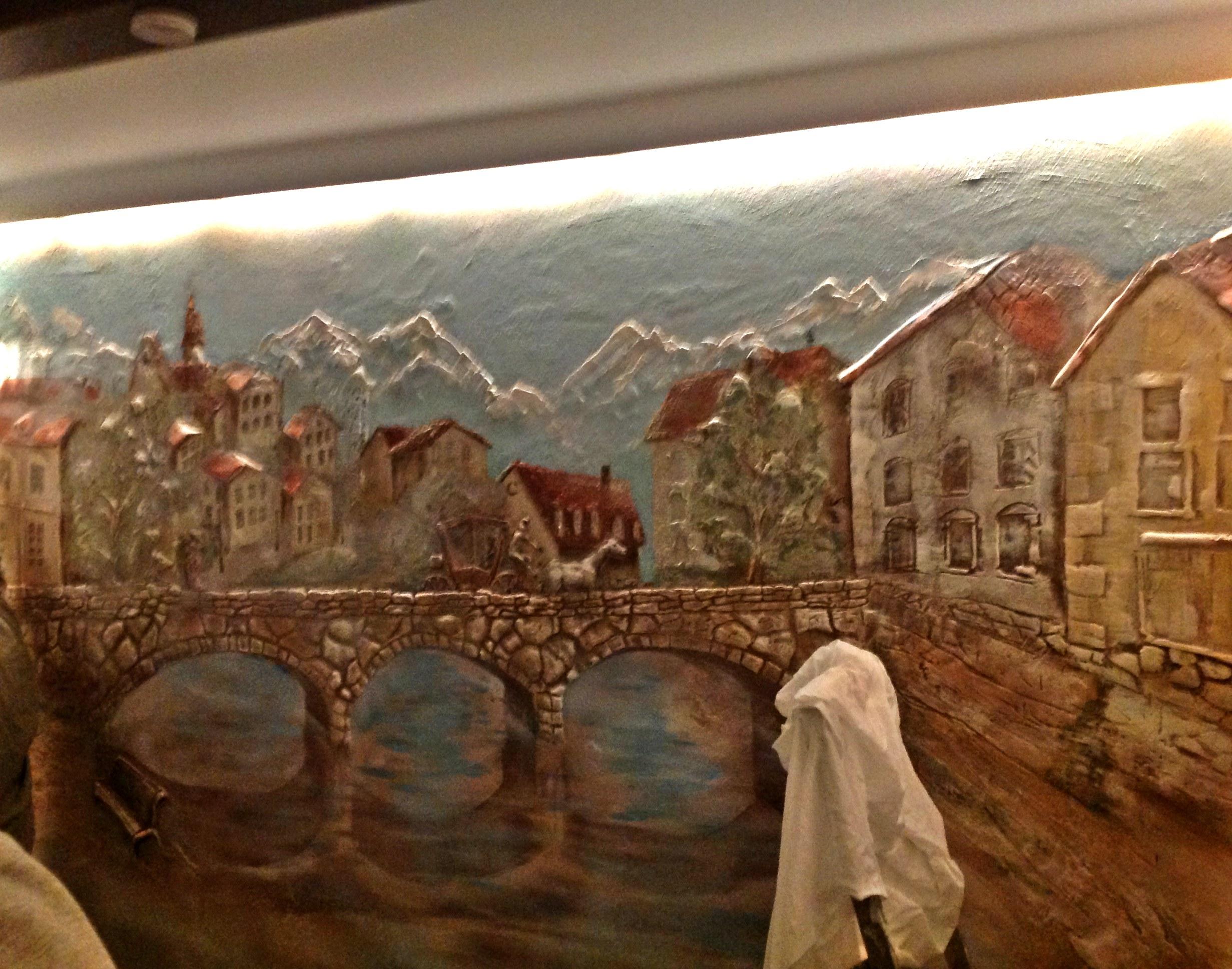 Объёмная роспись стен