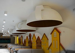 Чашки на потолке