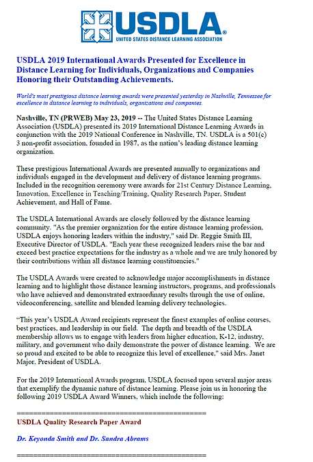 USDLA Award Notification.png