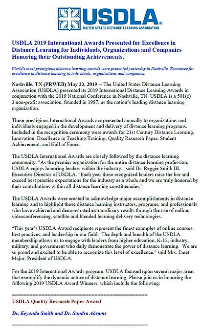 USDLA Award Notification.png