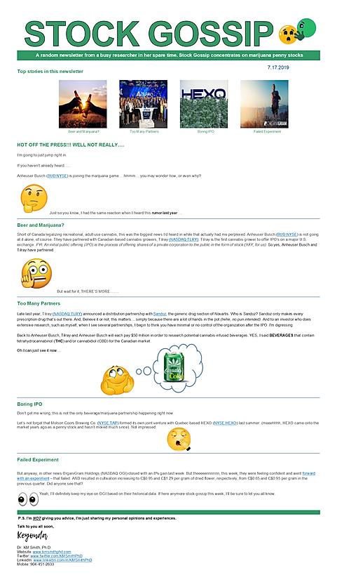 Newsletter 07172019