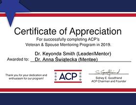 ACP Bill Clinton Foundation Certificate