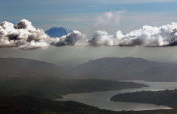 Floating Mt. Rainier