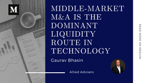 Middle-Market M&A is the Dominant Liquidity Route in Technology