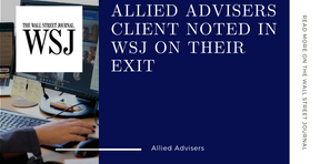 Allied Advisers client's exit noted on The Wall Street Journal