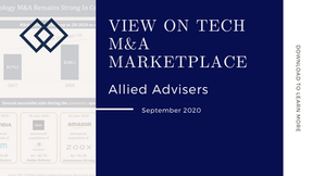 View on Tech M&A Marketplace - Sep 2020