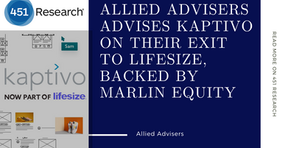 451Group notes Allied Advisers serves as advisor in sale of Kaptivo to Lifesize