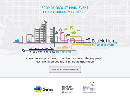VCforU users get 20% discount for  EcoMotion's Main Event 2016