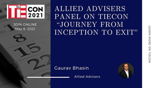 """Allied Advisers is a panelist on TiEcon 2021 """"Journey from inception to exit"""""""