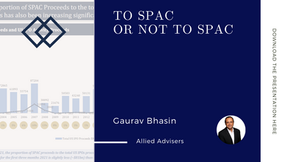 "Allied Advisers - Panelist on: ""To SPAC or not to SPAC"""