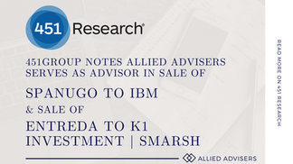 451Group notes Allied Advisers serves as advisor in sale to IBM and K1 Investment Management