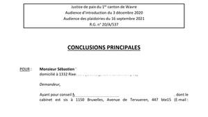 Conclusion judiciaire d'annulation d'assemblée générale de copropriété en Belgique pour irrégularité