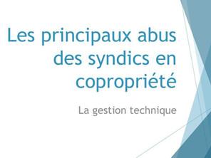 Abus en copropriétés par les syndics? conseils et a quoi faire attention? Evaluez les contrats