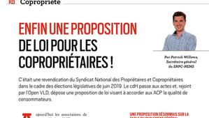 Enfin une proposition de loi pour accorder la qualité de consommateur aux copropriétés en Belgique
