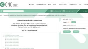 Avis de la commission des normes comptables sur la comptabilité des copropriétés sur l'AR