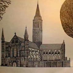 Salbury Church - Pen and Ink