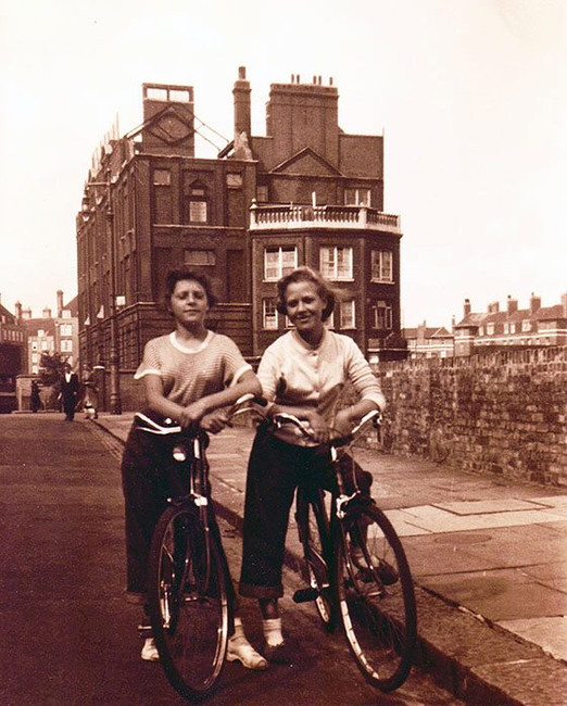 Mom and Barb_  London ~ 1950's