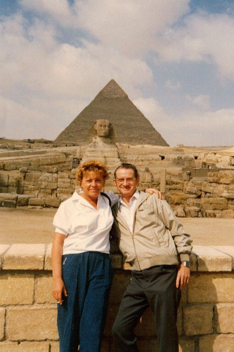 Mom & Dad on one of their many times in Egypt