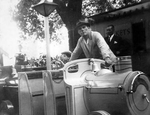 Grandpa running the trains at Battersea Amusement Park ~ 66