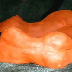 A Couple Resting - Fired Red Clay