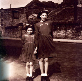 Mom and Antie Eve ~ Lancashire England ~ 1940's