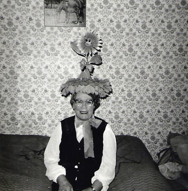 My Grandma in London always did like hats !  THis was one of her.jpg.jpg.jpg.jpg.jpgah.jpg.jpg.jpgmore interesting ones !  The picture says March 6th, 1971.jpg