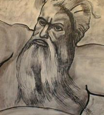 Zeus - Practice Drawing - Pencil & Charcoal