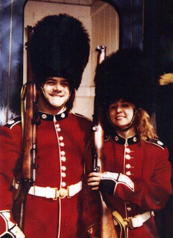Jerry and Norma Jean in London guarding the Queen !  OK