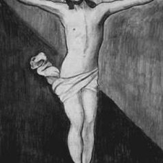 Jesus in Charcoal