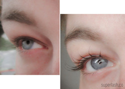 wet eye, eyelash extensions