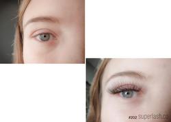 hybrid, natural, eyelash extensions