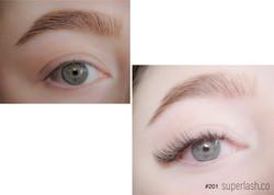 hybrid, cat eye, eyelash extensions
