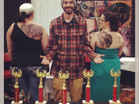 Robby Latos earns 5 awards at The Louisville Tattoo Arts Convention!