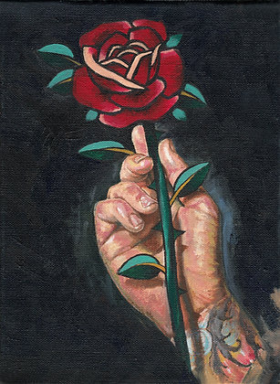 Rose in Hand by Robby Latos