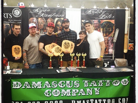 Damascus Tattoo Company receives 9 awards at The Baltimore Tattoo and Arts Convention!