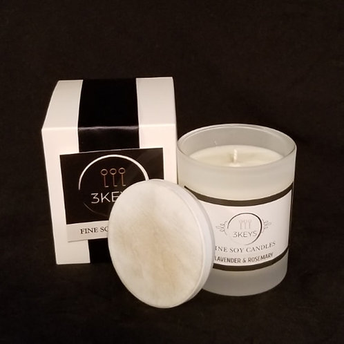 Medium Frosted Luxury Candle