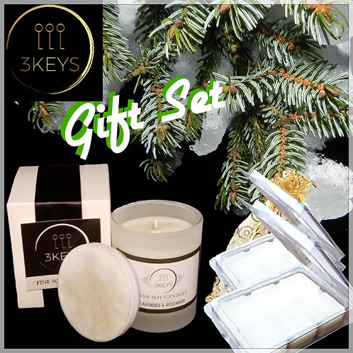 Frosted Candle & Melts Gift Set