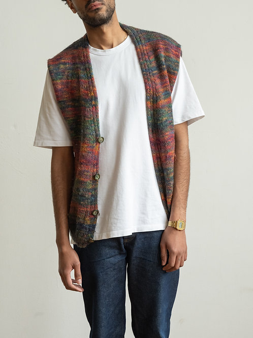 missoni - red green knitted vest