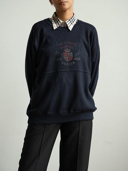 paul and shark - navy crewneck sweater