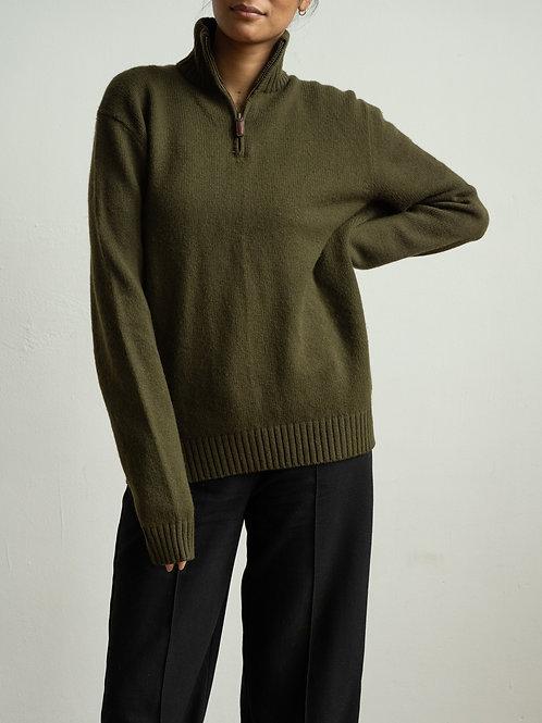 ralph lauren - knit quarter zip-up