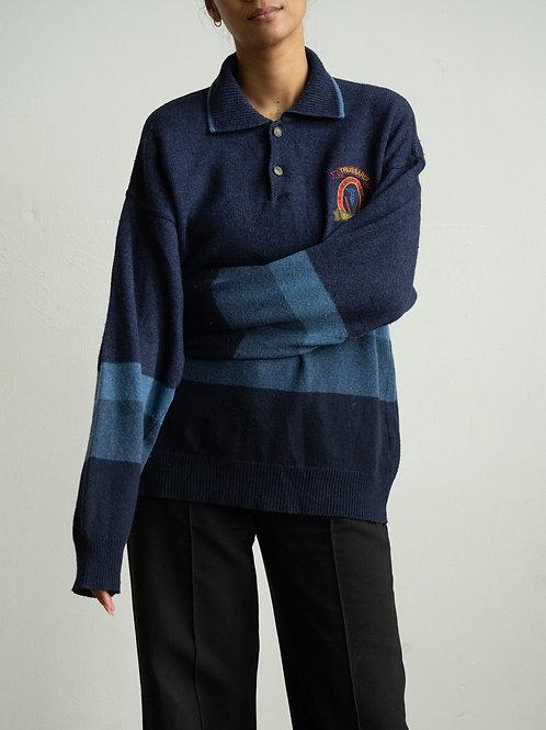 trussardi -blue pallet quarter jumper