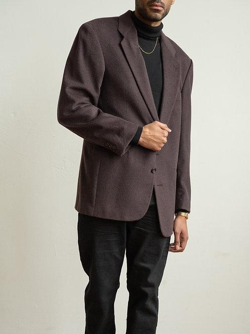 hugo boss - burgundy wool blazer