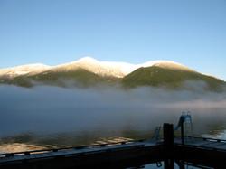 Dawn at Ekins in the fog