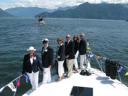 The Lyons Den crew at Sailpast