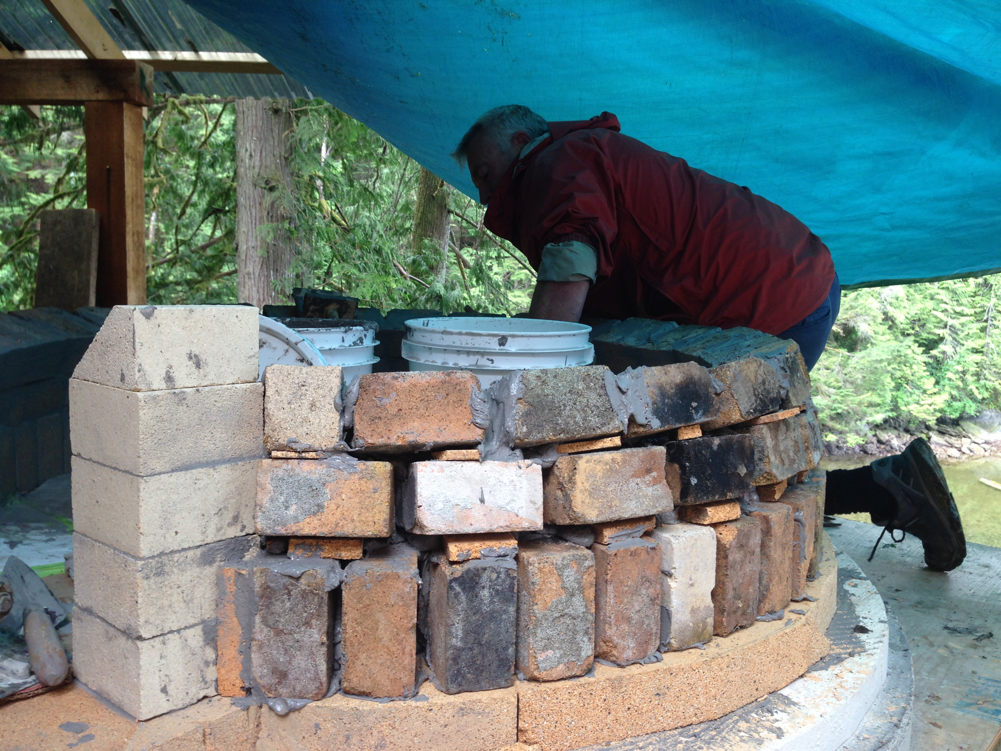 Building the pizza oven