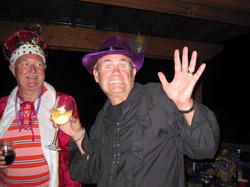 The King and Joker at Mardi Gras