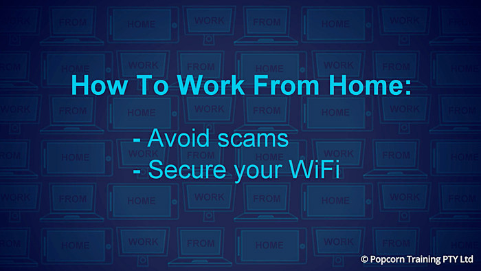 How to avoid scam while working from home